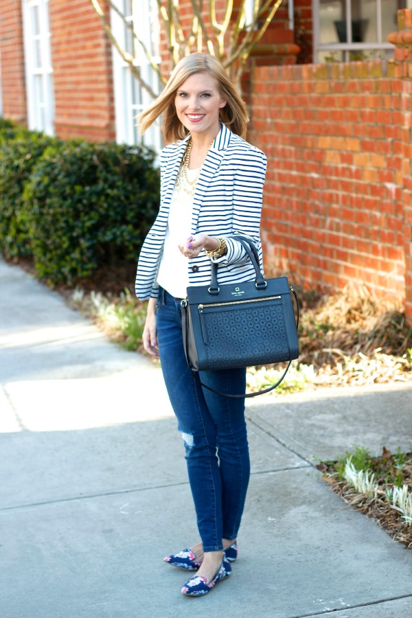 Striped Blazer | Life With Emily