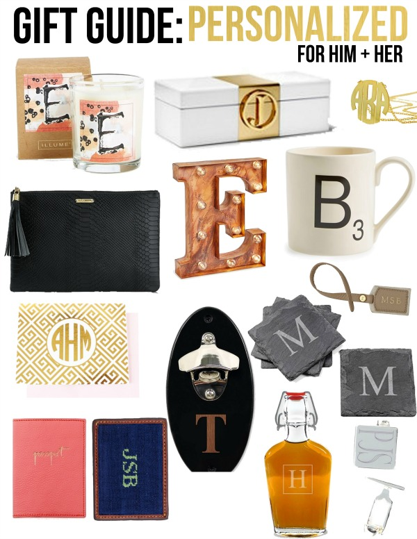 Gift guide personalized items for him her life with emily for Engravable gifts for her